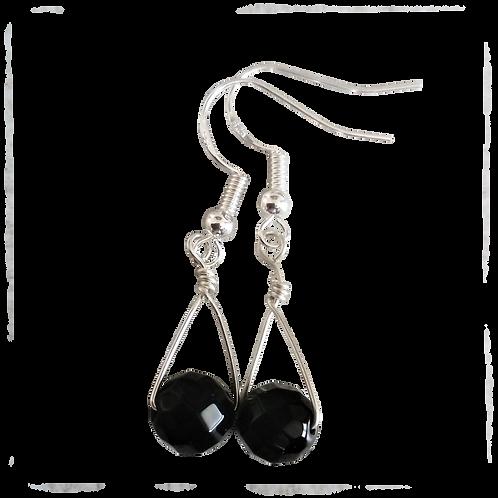 Black Onyx Single Drop Earrings