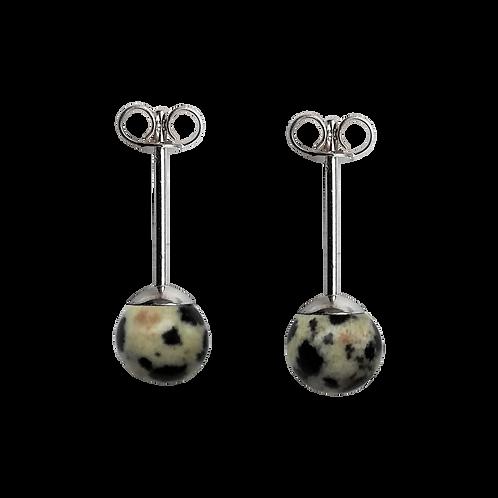 Dalmatian Jasper Stud Earrings
