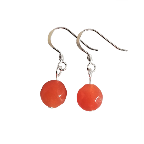 Orange Aventurine Short Drop Earrings