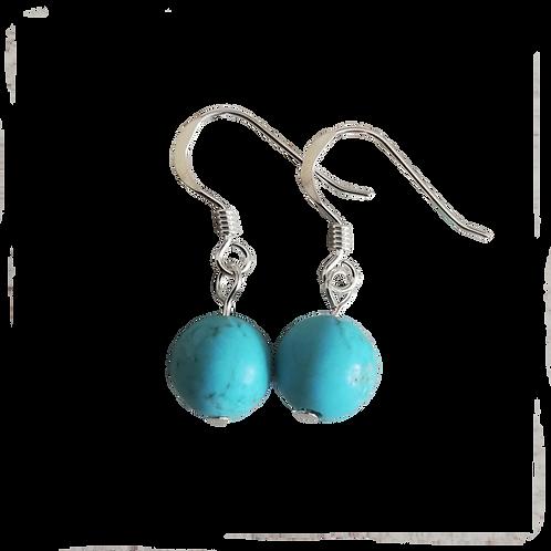 Turquoise Magnesite Short Drop Earrings