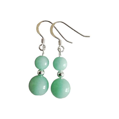 Green Quartzite Mixed Drop Earrings