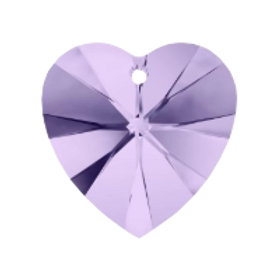 Short Drop Earrings with Violet Swarovski® Xilion Hearts