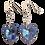 Thumbnail: Short Drop Earrings with Light Sapphire Shimmer Swarovski® Xilion Hearts