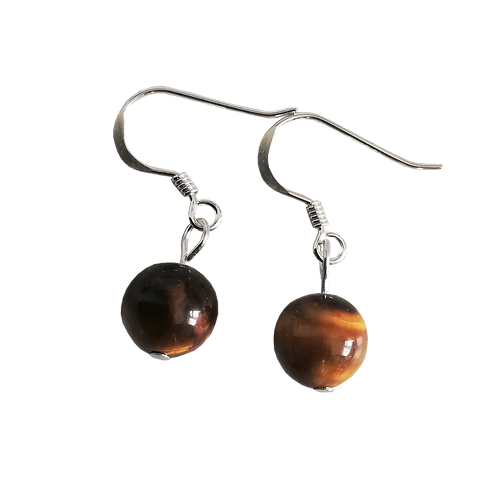 Tigers Eye Short Drop Earrings