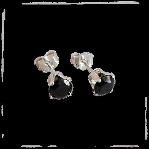 Black Cubic Zirconia Stud Earrings