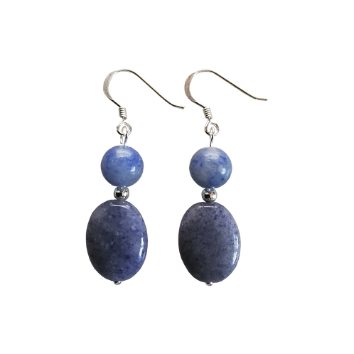 Blue Aventurine Teardrop Earrings