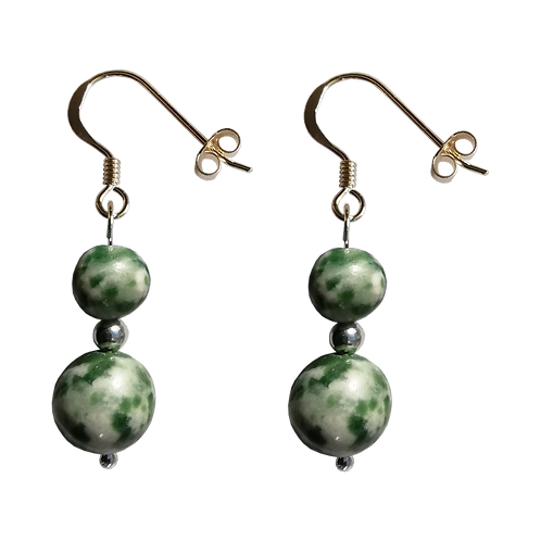 Tree Agate Mixed Drop Earrings