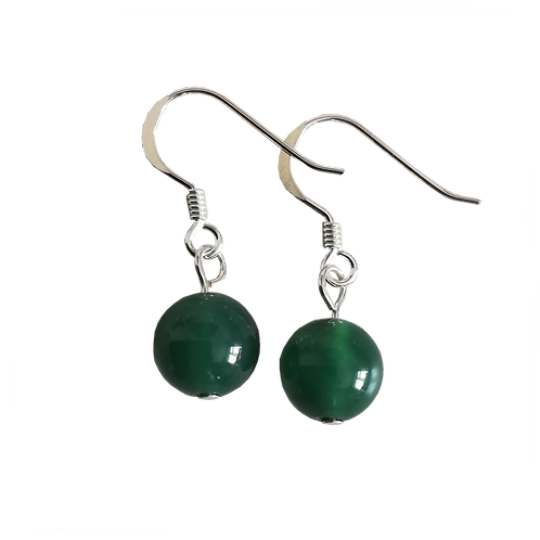Green Onyx Short Drop Earrings