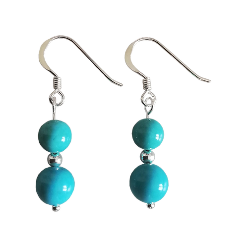 Turquoise Magnesite Mixed Drop Earrings