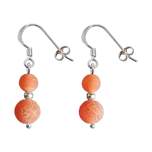Cracked Agate Mixed Drop Earrings
