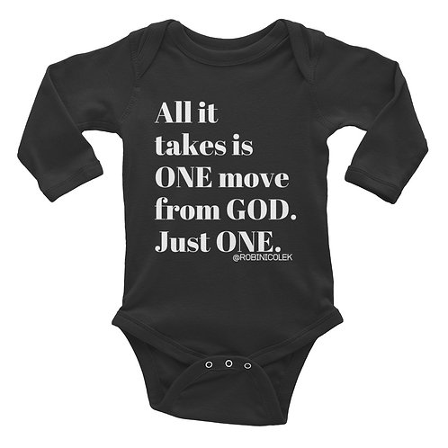 ONE MOVE Infant Long Sleeve Bodysuit