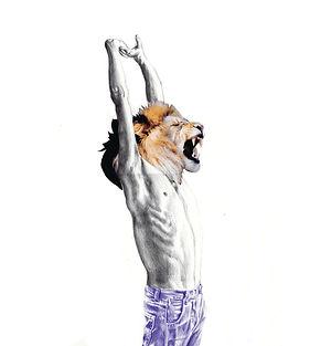 Lion jeans Yawn