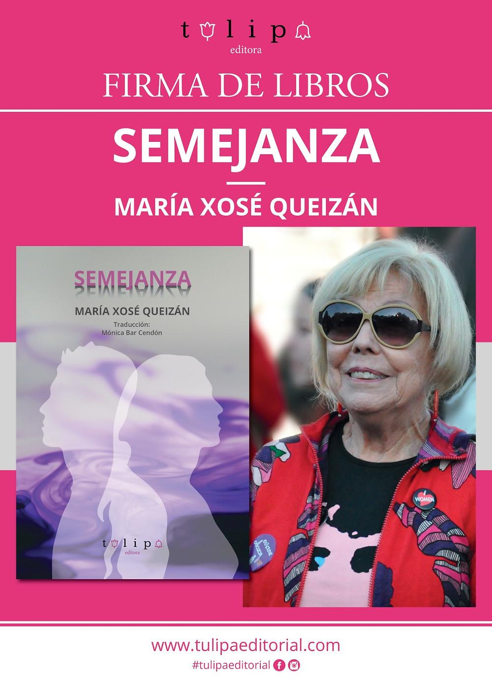 Firma de libros de Mª Xosé Queizán Semejanza Culturgal 2019 Tulipa Editorial