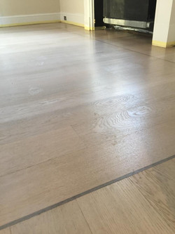 Solid Oak finished in pale white finish