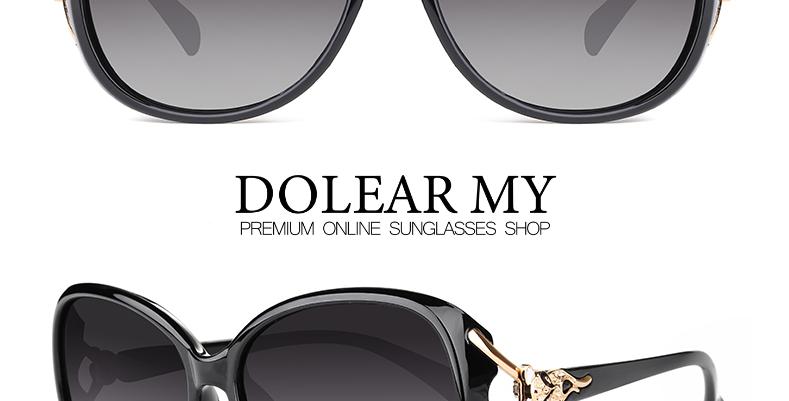 Round Face Polarized Ladies Sunglasses