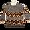 Thumbnail: Handmade Mocha Wave Knit Sweater (S)