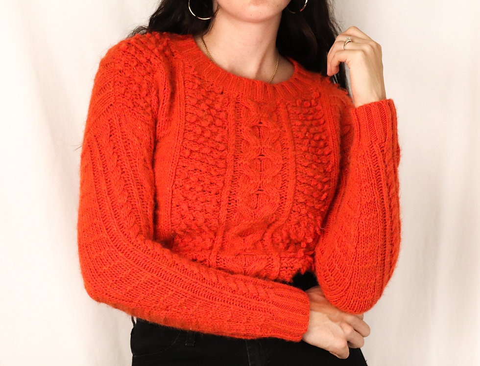 Italian Yarn Cable Knit (XS)