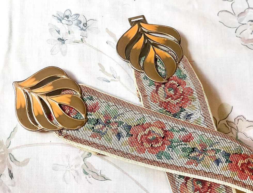 Art Nouveau Adjustable Belt (O)