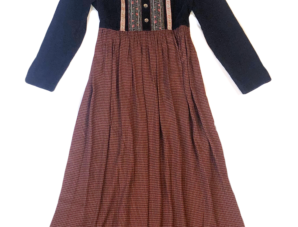 Peasant Long Sleeve Tie Dress (M-L)