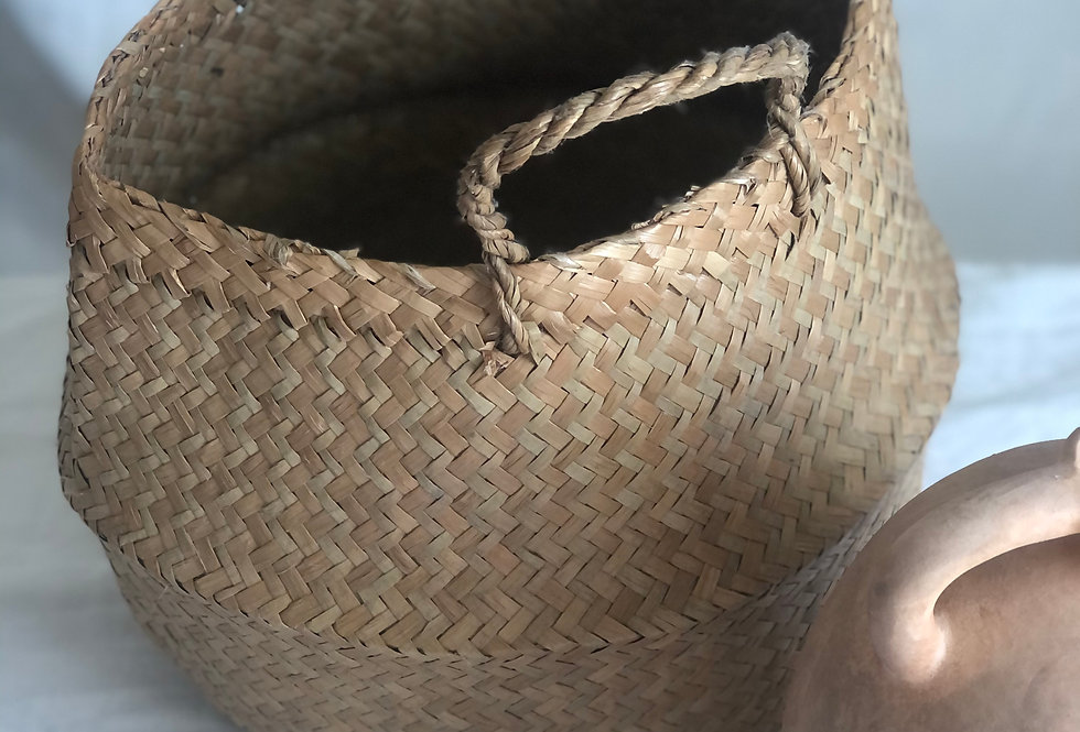 Collapsible Seagrass Basket