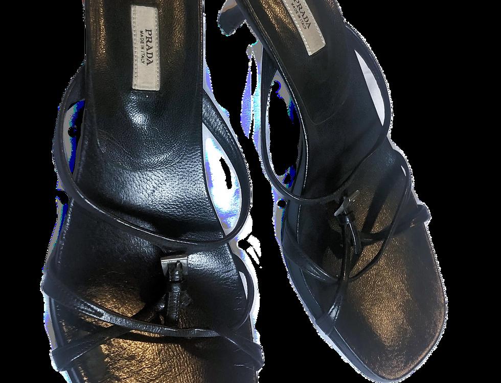 Prada | Buckle Heel Sandal