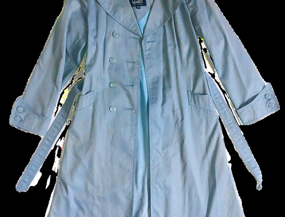 UIEX | Robin's Egg Trench Coat (L)