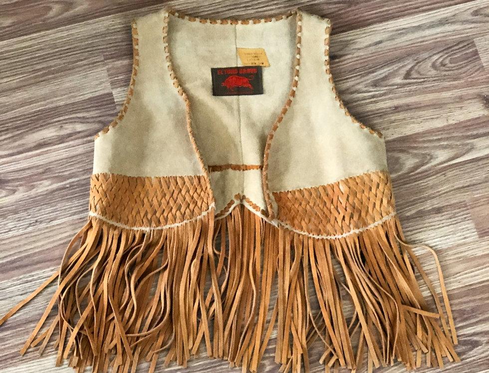 El Toro Bravo Leather Fringe Vest (M-L)