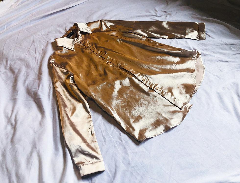Sand Silk Shine Blouse (L)