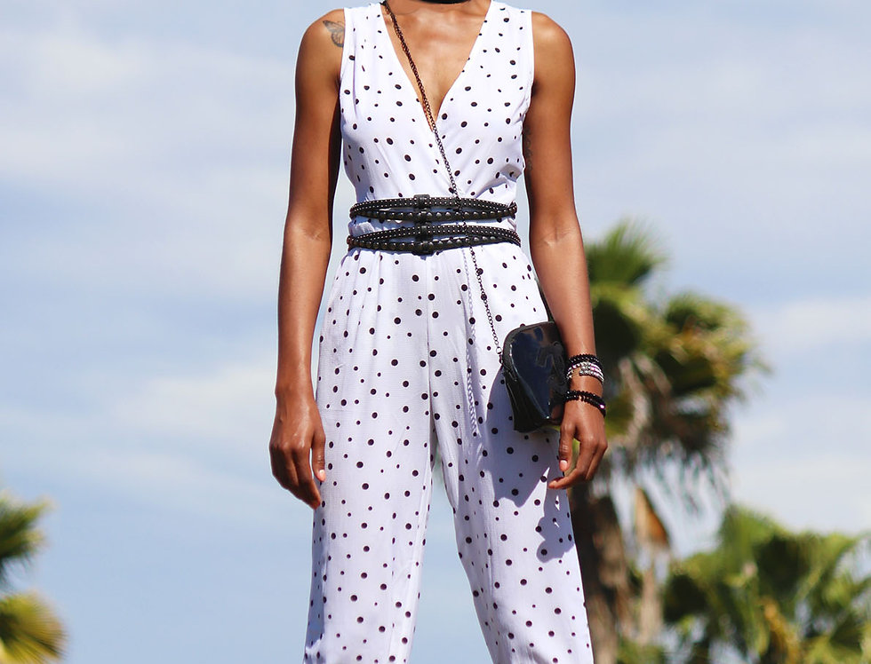 One Piece Dotted Jumpsuit (S-M)