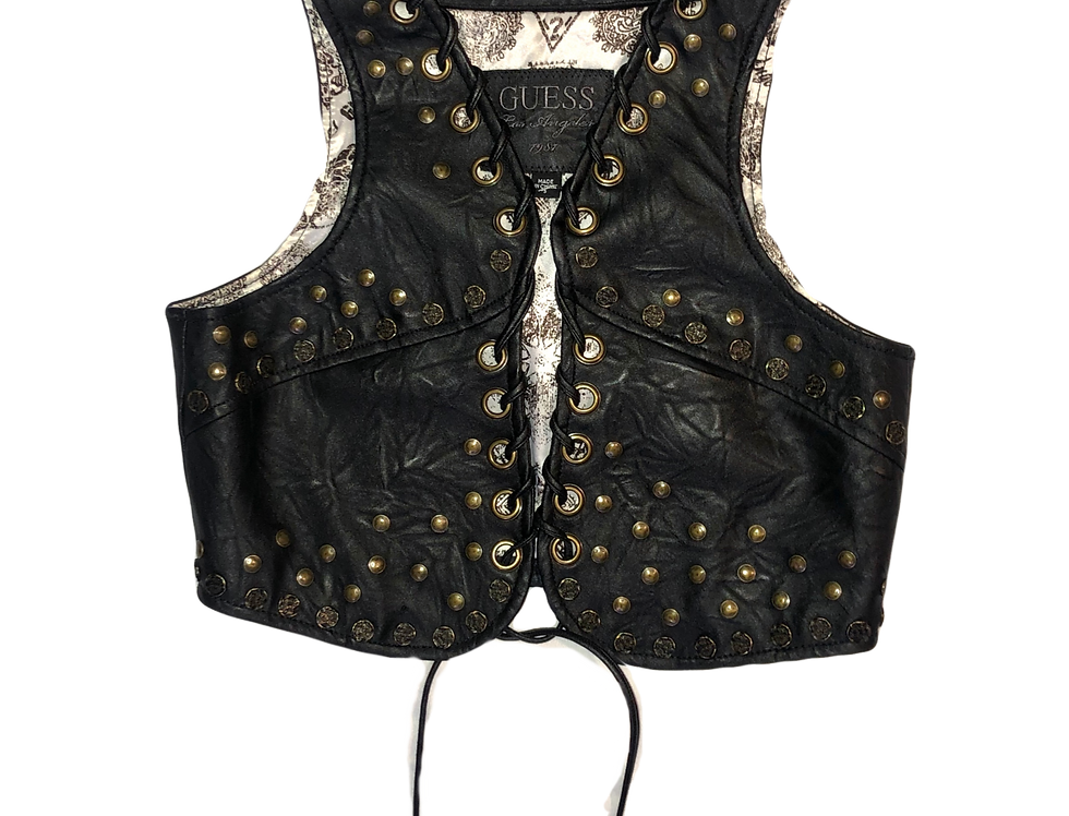 Guess | Studded Leather Corset Vest (S)