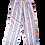 Thumbnail: Blue Cheer High Waisted Striped Pant (M-L)