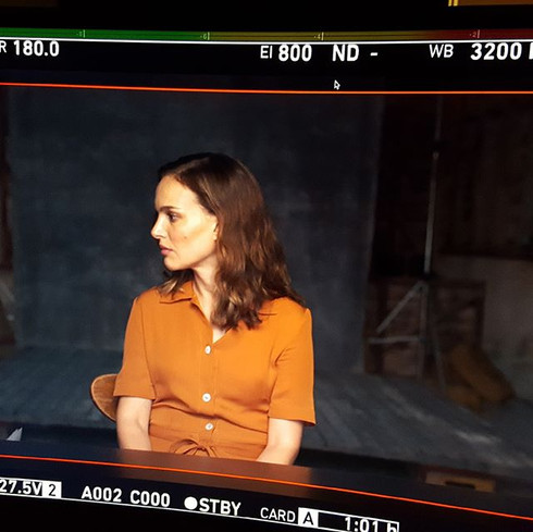 On Set with Natalie Portman