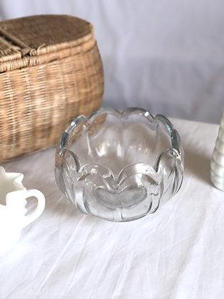 Scalloped glass bowl