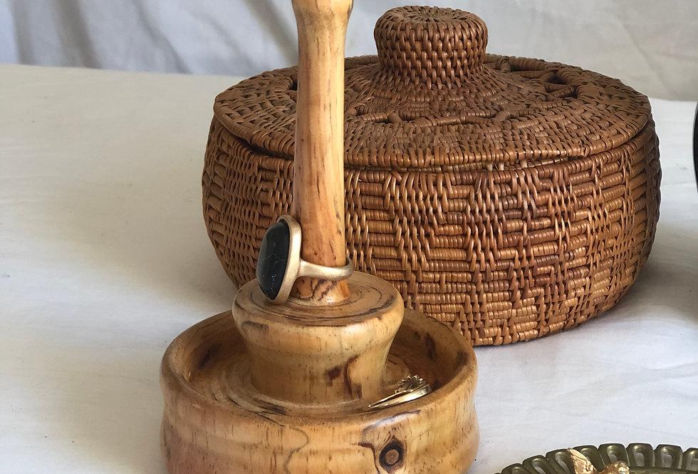 Handmade Pine Ring Holder