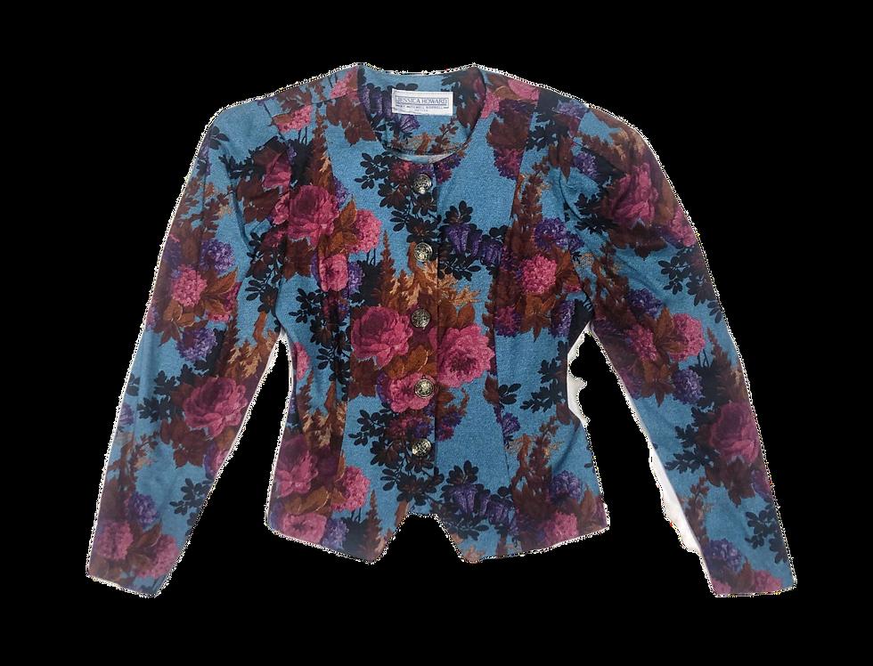 Structured  Victorian Floral Blouse (M-L)