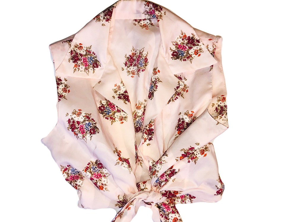 Sleeveless Floral Country Top (M)