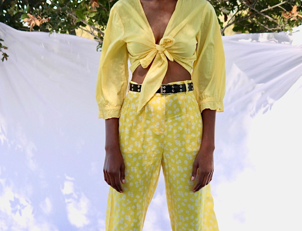Lemon Wrap Top (L)