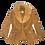 Thumbnail: 1970's Leather Fur Collar Jacket (L)