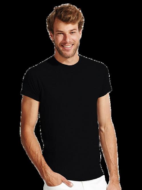 Basic T-Shirt met Borstlogo 2 kleuren