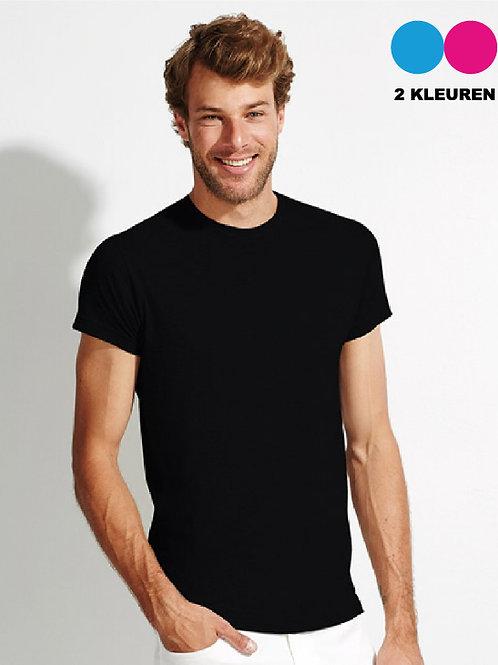 Basic T-Shirt met Ruglogo 2 kleuren