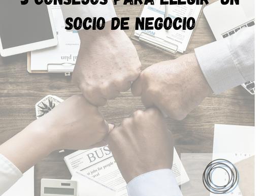 3 consejos para elegir un socio de negocio