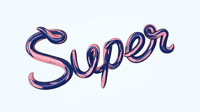Graphic Art Titled Super