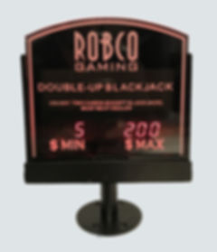 Casino Table limit Sign