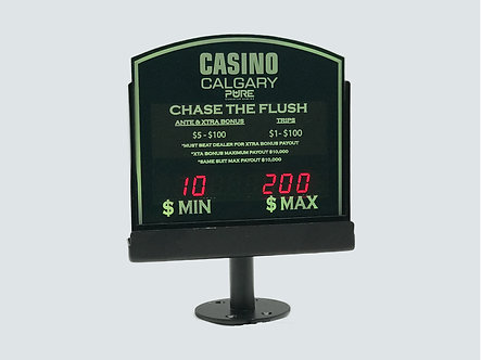LED MINIMUM / MAXIMUM TABLE LIMIT SIGNS