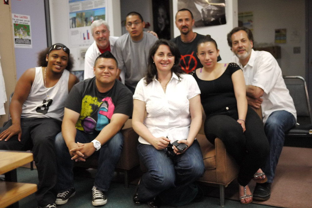 Nuvia with her class at Central High School along with mentors Andy House, Marvel Studio's Executive Producer, Victoria Alonso