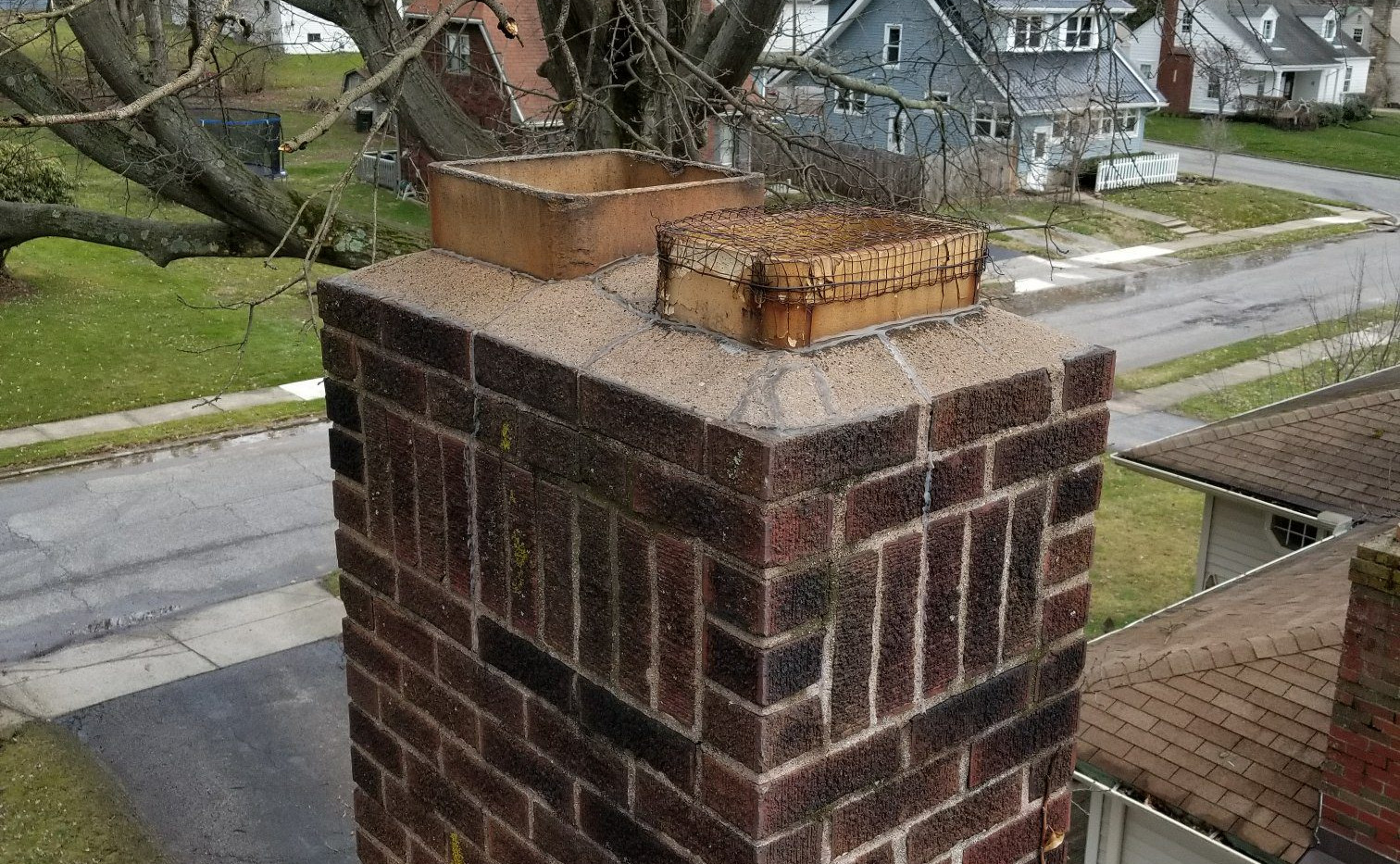 Custom Chimney Skirt Cap