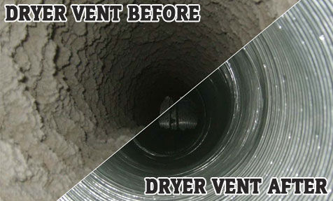 See thedifference FireTec LLC can make by getting your Dryer Vents cleaned!