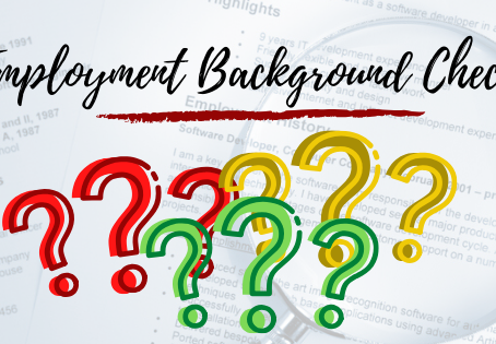 Concern about Employment Background Check?