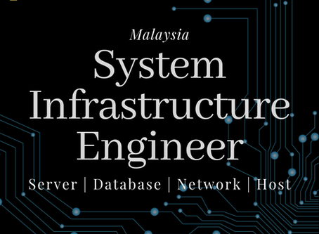 Vacancy with MNC Company : Infrastructure Engineer