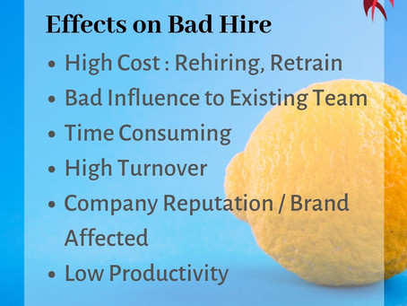 Effects on Bad Hire